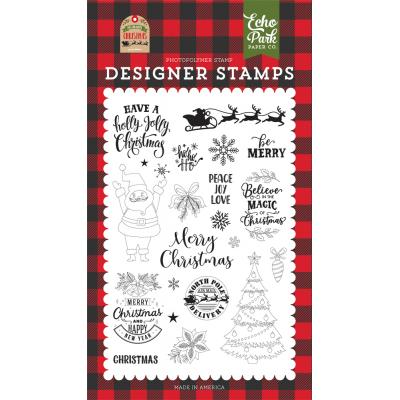 Echo Park My Favorite Christmas Clear Stamps - Be Merry