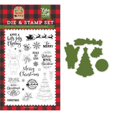 Echo Park My Favorite Christmas Clear Stamps und Outline-Stanzschablonen - Be Merry