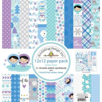 Doodlebugs Polar Pals - 12x12 Paper Pack