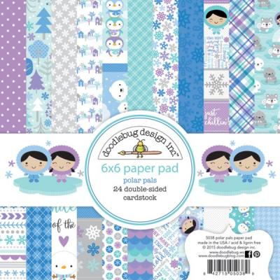Doodlebugs Polar Pals - 6x6 Paper Pack
