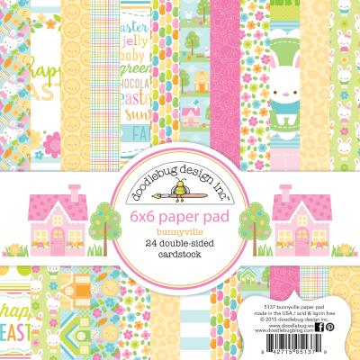 Doodlebugs Bunnyville - 6x6 Paper Pad