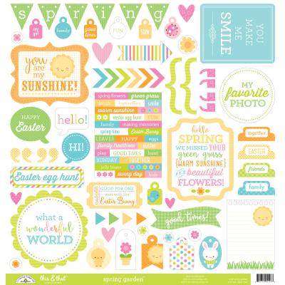 Doodlebugs Spring Garden - This & That Cardstock Sticker