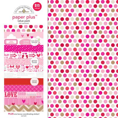 Doodlebugs Paper Plus Pack - Love