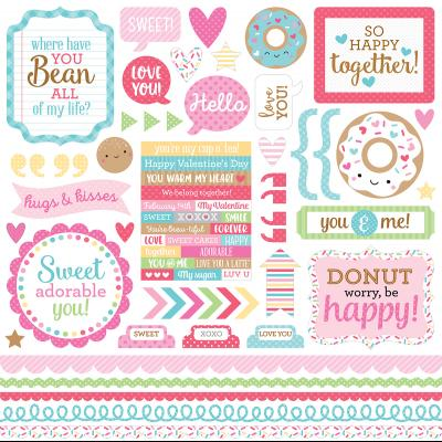 Doodlebugs Cream & Sugar - This & That Cardstock Sticker
