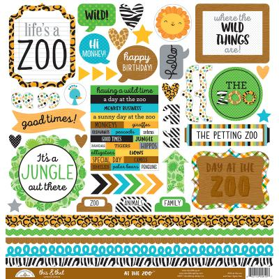 Doodlebugs At the Zoo - This & That Sticker