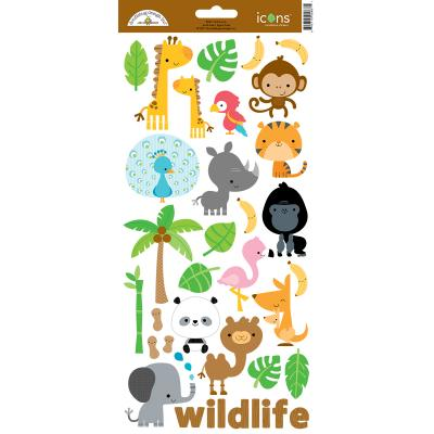 Doodlebugs At the Zoo - Icons Sticker 1