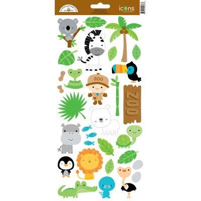 Doodlebugs At the Zoo - Icons Sticker 2