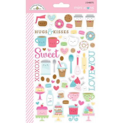 Doodlebug Cream & Sugar - Mini Icons Sticker