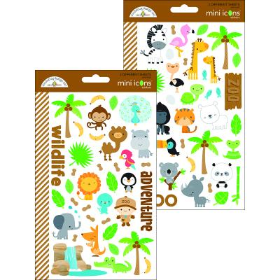 Doodlebugs At the Zoo - Mini Icons Sticker