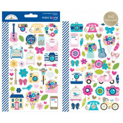 Doodlebug Hello - Mini Icons Sticker