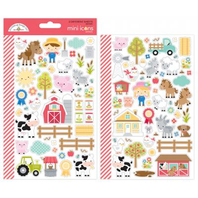 Doodlebugs Down on the Farm - Mini Icons Stickers
