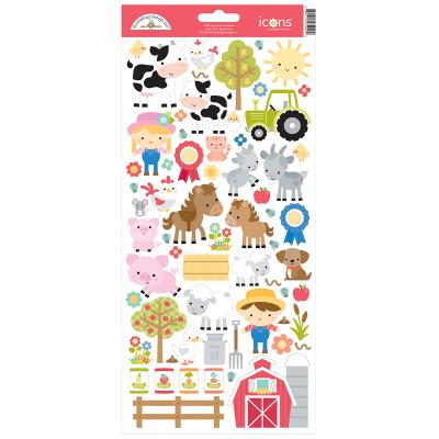 Doodlebugs Down on the Farm - Cardstock Sticker