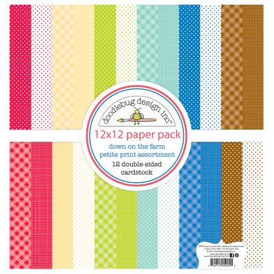 Doodlebugs Down on the Farm - Petite Print Assortment Pack