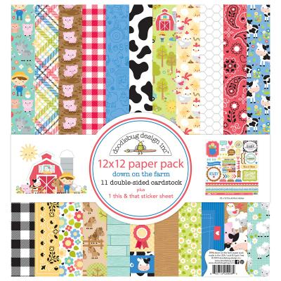 Doodlebugs Down on the Farm -  12x12 Paper Pack