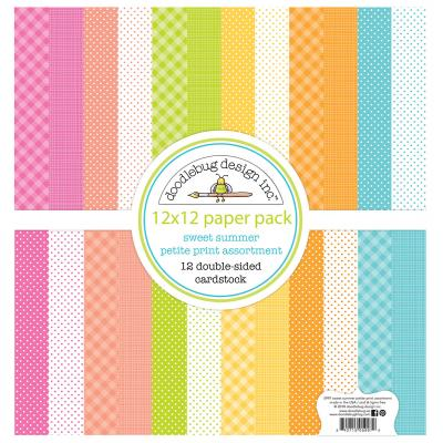 Doodlebug Sweet Summer Designpapier - Petite Print Assortment Pack
