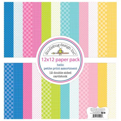 Doodlebug Hello Designpapier - Petite Print Assortment Pack