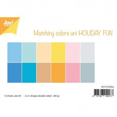 Joy!Crafts Papierset Designpapier - Colors Uni