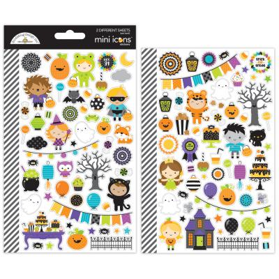 Doodlebugs Pumpkin Party - Mini Icons Sticker