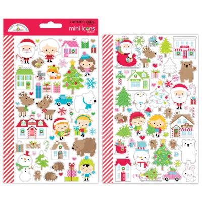 Doodlebugs Christmas Town - Mini Icons Sticker