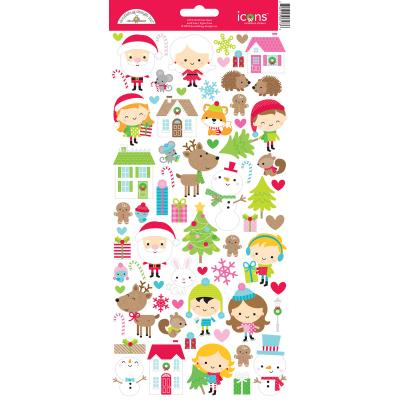 Doodlebugs Christmas Town - Icons Cardstock Sticker