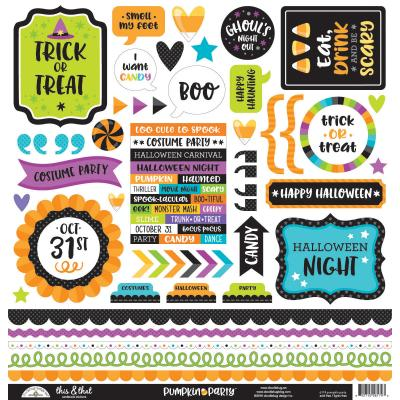 Doodlebugs Pumpkin Party - This & That Sticker