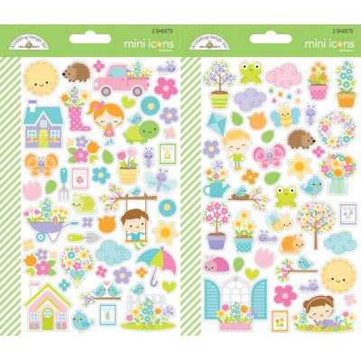 Doodlebugs Simply Spring - Mini Icon Sticker