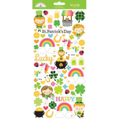 Doodlebugs Lots o' Luck - Icons Cardstock Sticker