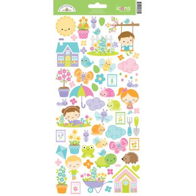 Doodlebugs Simply Spring - Icon Sticker