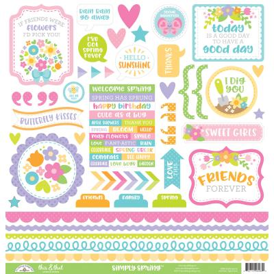 Doodlebugs Simply Spring - This & That Sticker