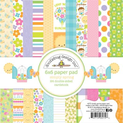 Doodlebugs Simply Spring - 6x6 Paper Pad