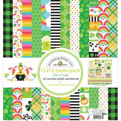 Doodlebugs Lots o' Luck Designpapier - Collection Kit