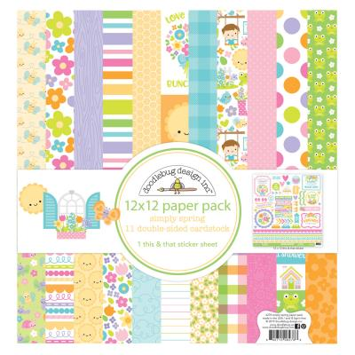 Doodlebugs Simply Spring - 12x12 Paper Pack