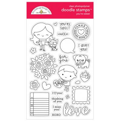 Doodlebugs Doodle Stamps - French Kiss - You're Sweet