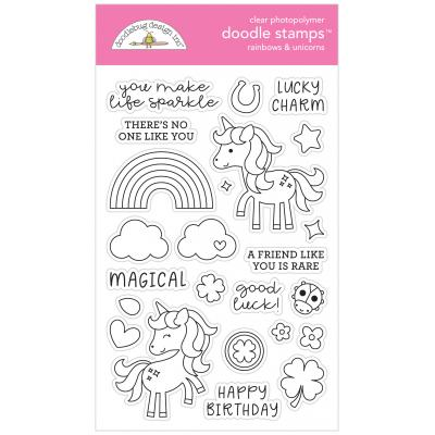 Doodlebugs Doodle Stamps - Lots o' Luck - Rainbows & Unicorns