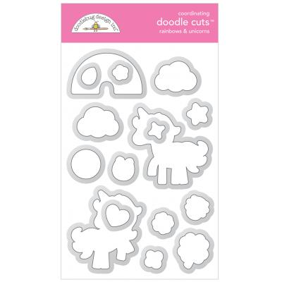 Doodlebugs Doodle Cuts - Lots o' Luck - Rainbows & Unicorns