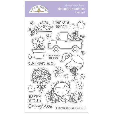 Doodlebugs Doodle Stamps - Simply Spring - Flower Girl