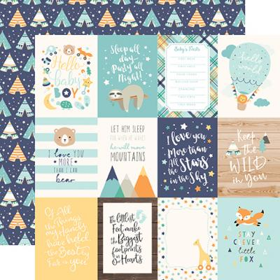 Echo Park Hello Baby Boy - 3x4 Journaling Cards