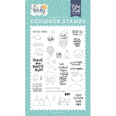 Echo Park Clear Stamps Hello Baby Boy - New Arrival