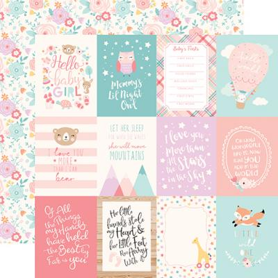 Hello Baby Girl - 3x4 Journaling Cards