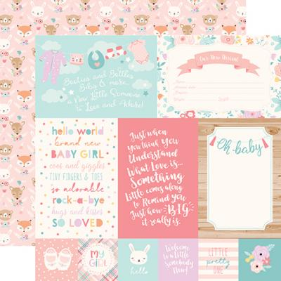 Echo Park Hello Baby Girl - 4x6 Journaling Cards