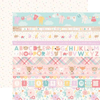 Echo Park Hello Baby Girl - Border Strips