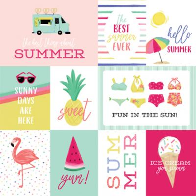 Echo Park Best Summer Ever - Journaling Cards
