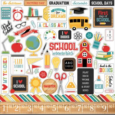 Echo Park Back to School - Stickerbogen