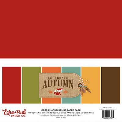 Echo Park Celebrate Autumn - Cardstock