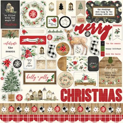 Carta Bella Christmas - Stickerbogen
