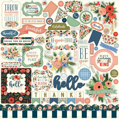 Carta Bella Flora No.2 Stickerbogen 12 x 12 Inch