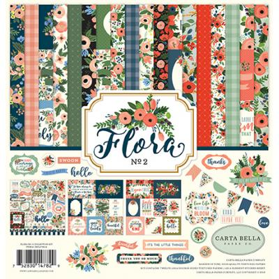 Carta Bella Flora No.2 Collection Kit 12 x 12 Inch