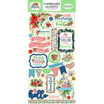 Carta Bella Flora No.2 6x13 Inch Chipboard Embellishments