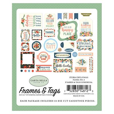 Carta Bella Flora No.2 Die-Cuts Frames & Tags Ephemera Pack