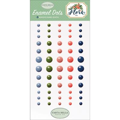 Carta Bella Flora No.2 Enamel Dots Embellishments